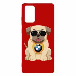 Чохол для Samsung Note 20 Dog with a collar BMW
