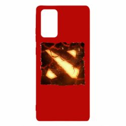 Чехол для Samsung Note 20 Dota 2 Fire Logo