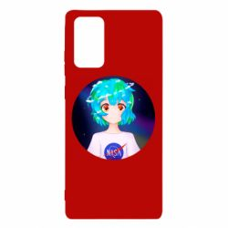 Чохол для Samsung Note 20 Earth-chan in a T-shirt with a Nasa logo