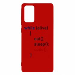 Чохол для Samsung Note 20 Eat, Sleep, Code