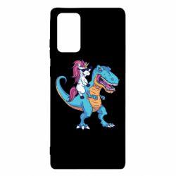 Чохол для Samsung Note 20 Єдиноріг і динозавр