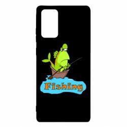 Чехол для Samsung Note 20 Fish Fishing
