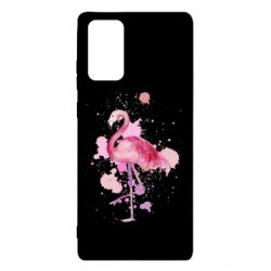 Чехол для Samsung Note 20 Flamingo pink and spray