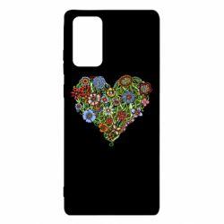 Чохол для Samsung Note 20 Flower heart