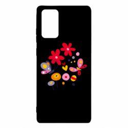 Чехол для Samsung Note 20 Flowers and Butterflies