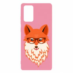 Чехол для Samsung Note 20 Fox with a mole in the form of a heart