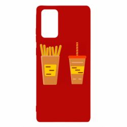 Чехол для Samsung Note 20 French fries and cocktail flat vector