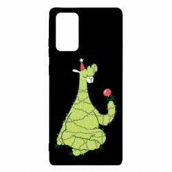 Чехол для Samsung Note 20 Green llama with a garland