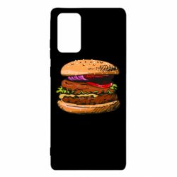 Чехол для Samsung Note 20 Hamburger hand drawn vector