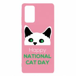 Чехол для Samsung Note 20 Happy National Cat Day