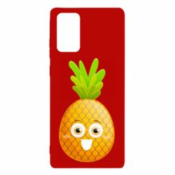Чехол для Samsung Note 20 Happy pineapple