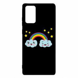 Чехол для Samsung Note 20 Happy rainbow
