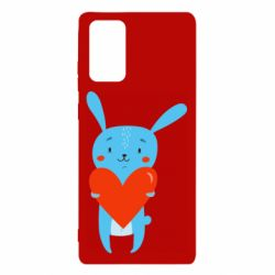 Чехол для Samsung Note 20 Hare with a heart