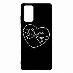 Чохол для Samsung Note 20 Heart with a bow