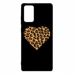 Чехол для Samsung Note 20 Heart with leopard hair