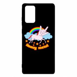 Чехол для Samsung Note 20 Heavy metal unicorn