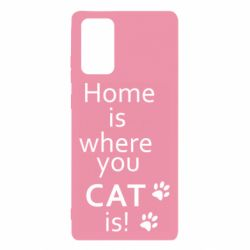 Чехол для Samsung Note 20 Home is where your Cat is!