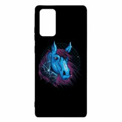 Чехол для Samsung Note 20 Horse and neon color