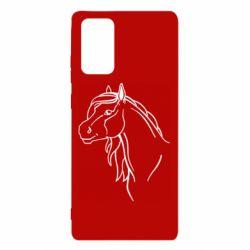 Чехол для Samsung Note 20 Horse contour