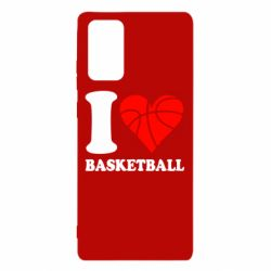 Чехол для Samsung Note 20 I love basketball
