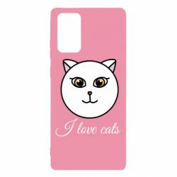 Чохол для Samsung Note 20 I love cats art