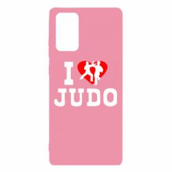 Чехол для Samsung Note 20 I love Judo