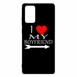 Чехол для Samsung Note 20 I love my boyfriend
