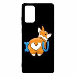 Чехол для Samsung Note 20 I love you corgi