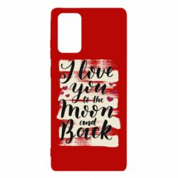 Чохол для Samsung Note 20 I love you to the moon