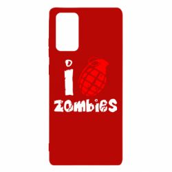 Чехол для Samsung Note 20 I love zombies
