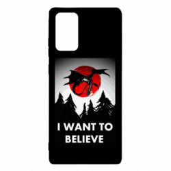 Чехол для Samsung Note 20 I want to BELIEVE poster