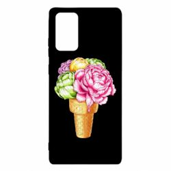 Чохол для Samsung Note 20 Ice cream flowers