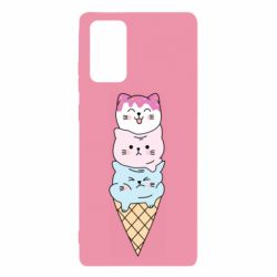 Чехол для Samsung Note 20 Ice cream kittens