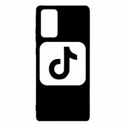 Чехол для Samsung Note 20 Иконка тик ток