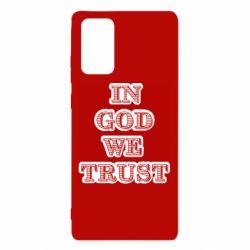 Чехол для Samsung Note 20 In god we trust