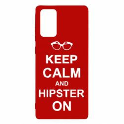 Чехол для Samsung Note 20 Keep calm an hipster on