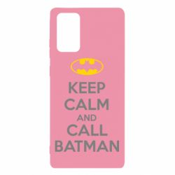 Чехол для Samsung Note 20 KEEP CALM and CALL BATMAN