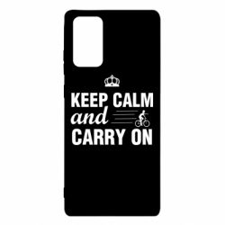 Чохол для Samsung Note 20 Keep calm and carry on text