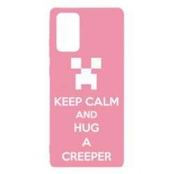 Чехол для Samsung Note 20 KEEP CALM and HUG A CREEPER