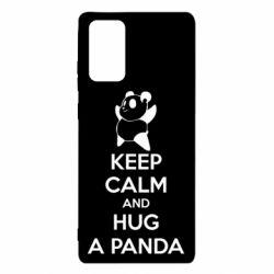 Чехол для Samsung Note 20 KEEP CALM and HUG A PANDA