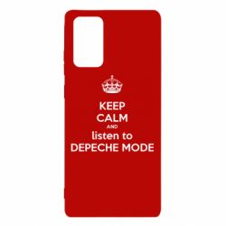 Чехол для Samsung Note 20 KEEP CALM and LISTEN to DEPECHE MODE