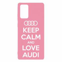 Чехол для Samsung Note 20 Keep Calm and Love Audi