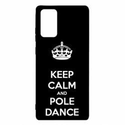 Чехол для Samsung Note 20 KEEP CALM and pole dance