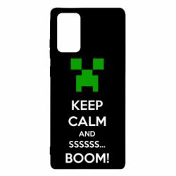 Чехол для Samsung Note 20 Keep calm and ssssssss...BOOM!
