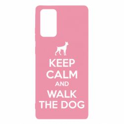 Чохол для Samsung Note 20 KEEP CALM and WALK THE DOG