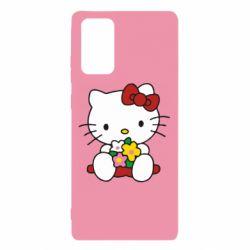 Чехол для Samsung Note 20 Kitty с букетиком