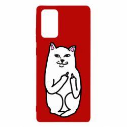 Чехол для Samsung Note 20 Кот с факом