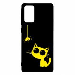 Чехол для Samsung Note 20 Котик и паук
