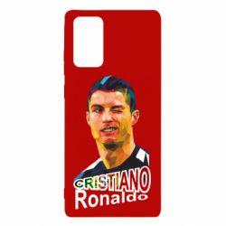 Чохол для Samsung Note 20 Крістіано Роналдо, полігональний портрет