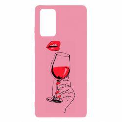 Чохол для Samsung Note 20 Lady is drinking